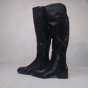 Charming lady knee high riding boots 11 black new